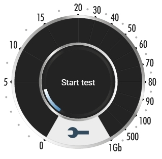 test speed logo