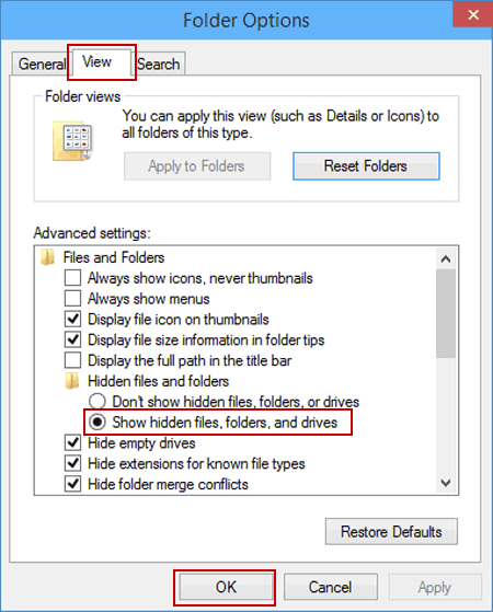 folder options win10