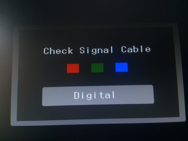 check signal cable